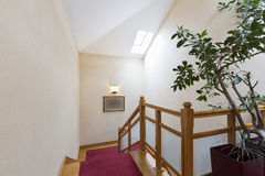 Stairs in the attic apartment Royalty Free Stock Images