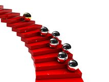 Stairs with balls Stock Image
