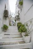 Stairs in Bari, Italy Stock Photo