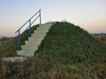 stairs barrow Bill sky heaven royalty free stock image