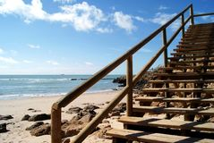 Stairs on the beach Royalty Free Stock Images