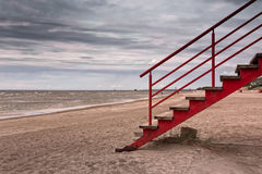 Stairs On The Beach Stock Photography