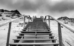 Stairs on the beach over a dune Royalty Free Stock Image