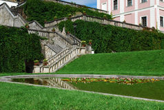 Stairs - Becov nad teplou stock image