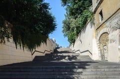 Stairs at beginning of Lanzheronovskaya street in Odessa Royalty Free Stock Photos