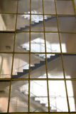 Stairs behind glass Royalty Free Stock Photography