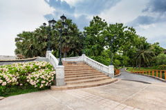 Stairs in Benjakiti Park Royalty Free Stock Photography