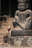 On the stairs in Bhaktapur Stock Photography