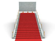 Stairs and bigboard Royalty Free Stock Images