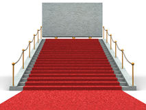 Stairs and bigboard. 3d Stock Image