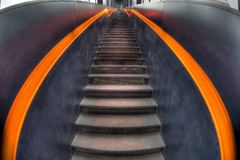 Stairs in black and orange Royalty Free Stock Photo