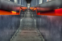 Stairs in black and orange Stock Image