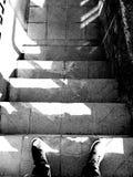 Stairs black and white stock photo