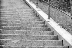 Stairs black and wihite. Stairs in the old town in Göteborg. Black and white royalty free stock photography