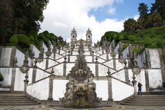 Stairs of Bom Jesus. Stairs of the sanctuary of Bom Jesus in Braga Royalty Free Stock Photos