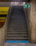 Stairs in brazilian subway station - exit Stock Photos