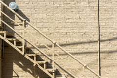 Stairs and Brick Wall Stock Photos