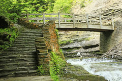 Stairs and bridge Royalty Free Stock Photography