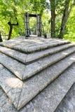 Stairs in Keilja Joa park in summer. Stairs and bridge in a park called Keila Juga in Estonia Royalty Free Stock Image