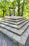 Stairs in Keilja Joa park in summer. Stairs and bridge in a park called Keila Juga in Estonia Royalty Free Stock Photo