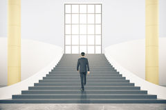 Stairs with businessman Stock Image