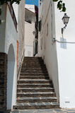 Stairs in Cadaques in Spain Stock Images