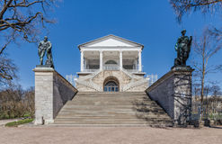 The stairs of the Cameron Gallery in the Catherine Park in Tsarskoye Selo. royalty free stock photo