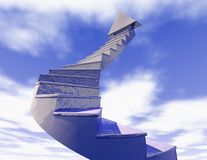 Stairs of career blue sky concept illustration Royalty Free Stock Photo