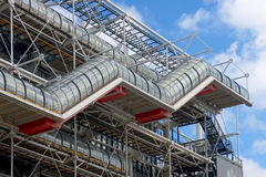 Stairs centre Pompidou royalty free stock photos