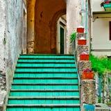 Stairs of Cetara Stock Photography