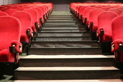 Stairs and chairs in a cinema Stock Photos