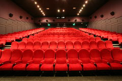 Stairs and chairs in a cinema Royalty Free Stock Image