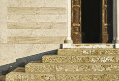 The stairs of the church Royalty Free Stock Images