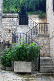 Stairs in the city of Kotor Stock Photo