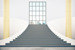 Stairs and city view Royalty Free Stock Photography