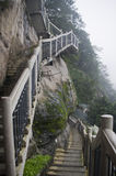 Stairs at the cliff. Stock Photography