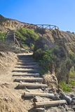 Stairs cliff Stock Photography