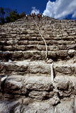 The stairs of coba' temple Royalty Free Stock Images
