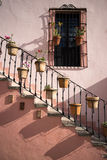 Stairs on a colonial house in mexico Stock Images