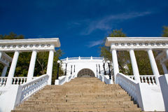 Stairs and colonnade in Orenburg. Stock Photography