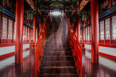 Stairs and colored dome in Nanjing Yuejianglou Tower (River Watchtower) Royalty Free Stock Photography