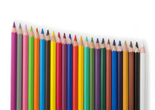 Stairs of colored pencils Royalty Free Stock Photography