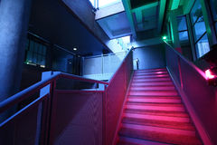 Stairs with colorful lighting Stock Image