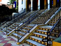 Stairs. Colorful stairs with repeating tile patterns royalty free stock photography