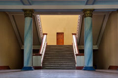 Stairs, columns, door Stock Photo
