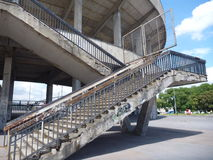 Stairs and concrete structure of old strahov stadion in prague Stock Image
