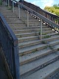 Stairs and concrete structure of old strahov stadion in prague Stock Photo