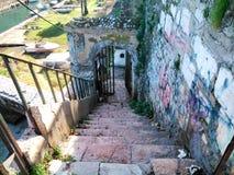 Stairs. In Corfu island Greece Stock Photos