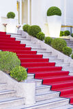 Stairs covered with red carpet in Sanremo ,Italy Stock Photography