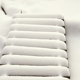 Stairs covered with snow Royalty Free Stock Photography